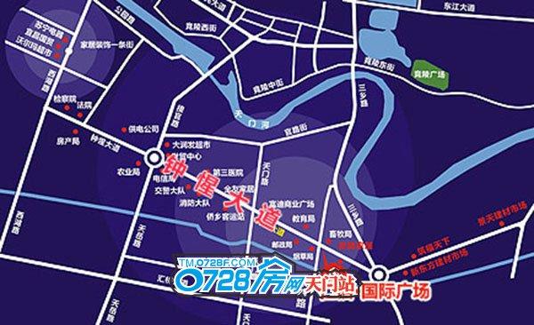 仁信国际广场区位图