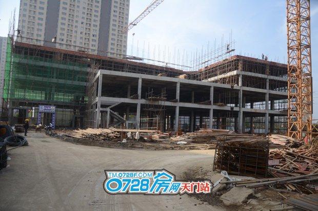 仁信博士苑1#楼已建至4层