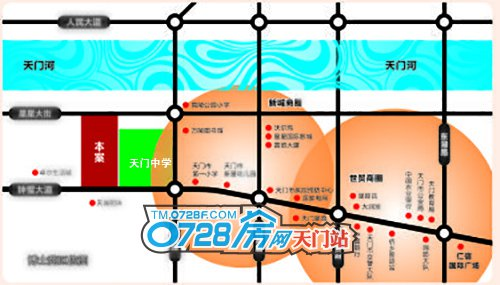 仁信博士苑花园洋房项目区位图