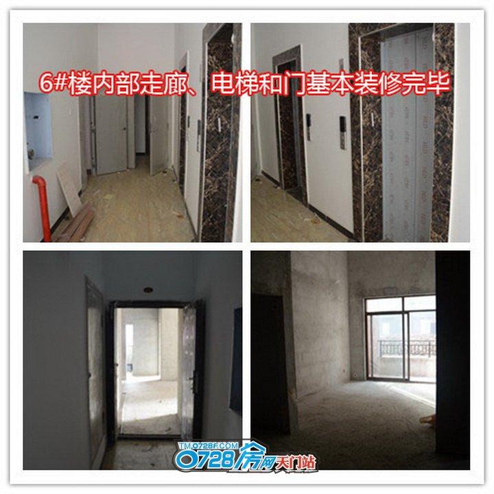 6#楼内部走廊、电梯和门基本装修完毕