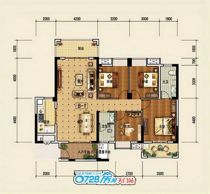 3#楼B1户型