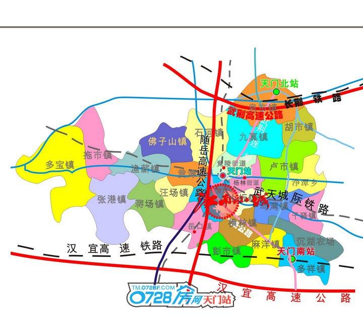 江南小城区位图