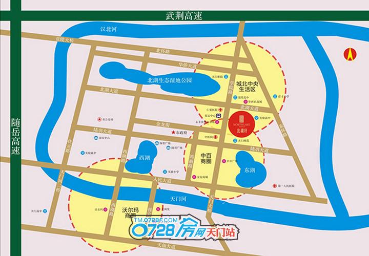 天门北湖轩:占城北核心区,轻松享繁华