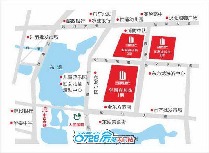 东湖商居街区位图
