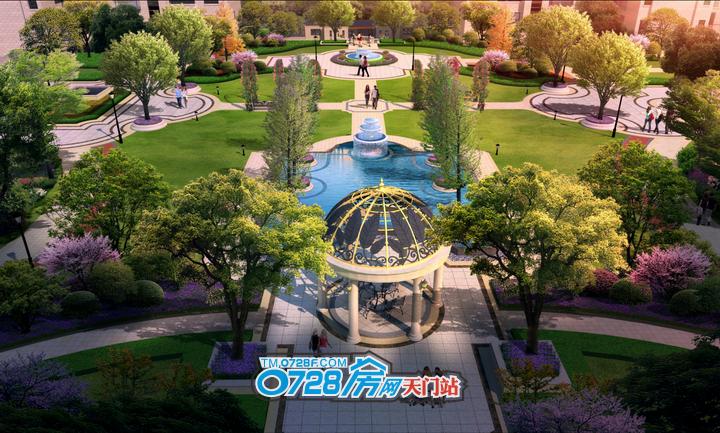 百里•太子湾在景观设计中巧妙的融合西方贵族花园与东方庭院的风格