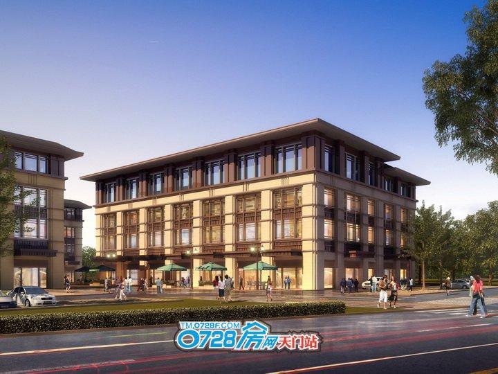 天门龙虾美食城按最先进的联排复合型多层模式规划建设