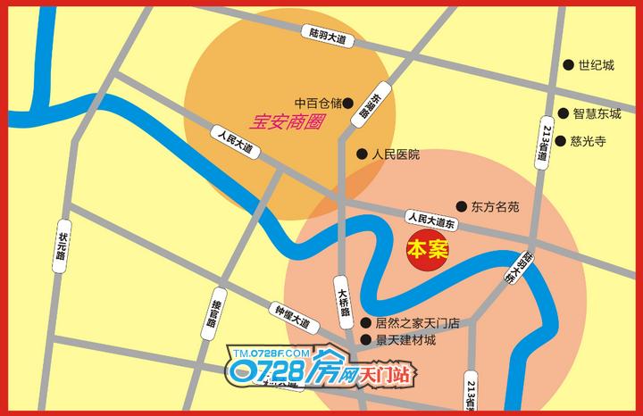 生态龙虾美食城区位图