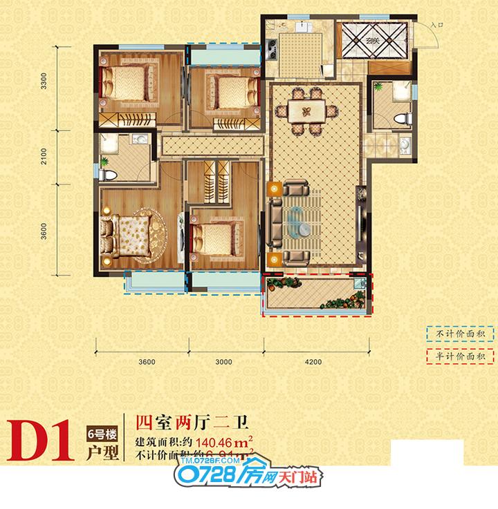 百里太子湾:住约140.46�O奢华美宅,享完美人居