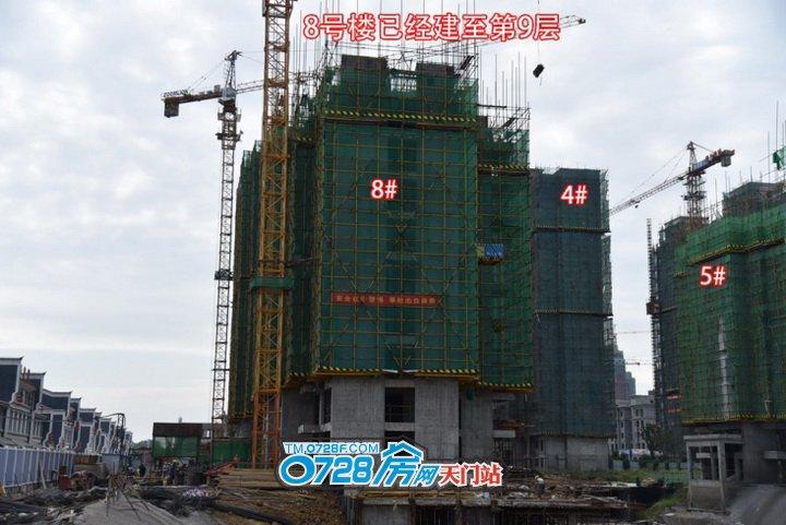8号楼总层高32层,已经建至第9层