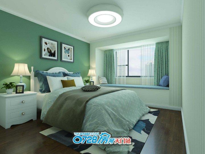 卧室的飘窗设计,让您可以享受到充足的室内光线,更可以饱览室外秀美的景观。闲暇时,一个人静静的坐在飘窗上,翻开一本书,享受属于一个人的静谧。