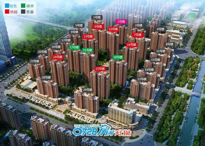 汉旺•世纪城B区鸟瞰图