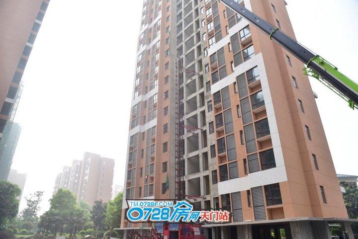 15号楼施工电梯正在拆除中