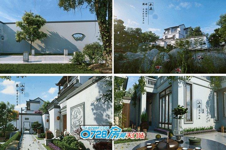 合院别墅,回归重塑天门人传统情怀别墅龙沐湾邻里图片